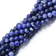 "Natural Blue Sodalite Crystal Gemstone Round Loose Beads Strand 15"" 4mm 6mm 8mm"