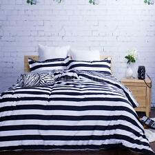 7x Bedding Set Duvet Cover+Bed Sheet+2Pillowcases+Neck Roll+2 Throw Pillows D4S1