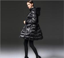 Fashion Womens Winter Duck Down Coat Warm Slim Fit Mid Long Style Overcoat Hot