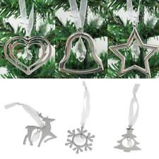 Alloy Bell/Tree/Elk/Snowflake/Star/Heart Xmas Tree Hanging Ornament Decoration