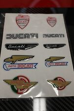 DUCATI MOTORCYCLE HISTORICAL 3D 10 DECAL STICKER SET 987694018 FREE GIFT BAG