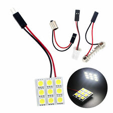T10+BA9S+Festoon Adapter 9smd 5050 9LED Panel Dome Reading Interior Light
