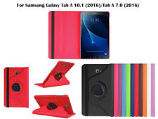 """For Samsung Galaxy Tab A 10.1"""" /7..0"""" Screen Protector/ Rotating PU Leather Case"""