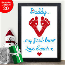 DADDY My 1st Love Personalised Christmas Gifts for Dad Daddy Father Grandad Xmas
