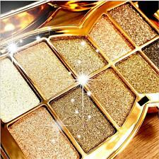 10 Colors Professional Diamond Eyeshadow Palette with Cosmetic Brush Makeup Set
