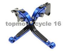 FXCNC A Pair Blue Fold Extending Brake Clutch Lever For Yamaha yzf r125 2015
