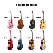"""39"""" Classical Guitar 19 Frets Solid Wood Basswood for Music Lover Black B9W8"""