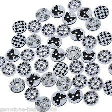 Wholesale HOT! Mixed Resin Buttons Round Pattern Fit Sewing and Scrapbook 13mm
