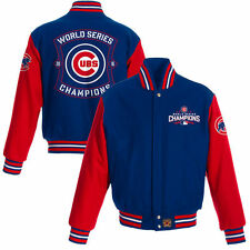Chicago Cubs JH Design 2016 World Series Champions Two-Tone Wool Jacket