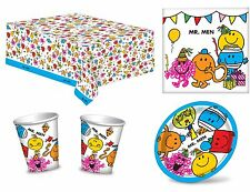 Mr Men Birthday Party Napkins Plates Cups Tablecover