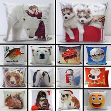 """Christmas Decorative Cushion Cover 17x17""""  Pillow Case Stunning Colours Gift New"""