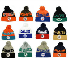 NFL Mitchell & Ness Throwback Knit Hat with Pom