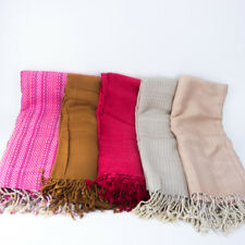 THAI CLOTH HANDICRAFT MUD DYED FABRICS BIG SCARF SHAWL BANDANA WRAP HAND WOVEN