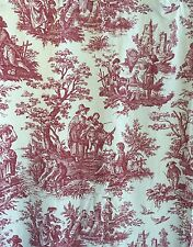 """WAVERLY Red Toile French Country Window 84.5"""" L Curtain Panel Drapes 24"""" or 53"""""""