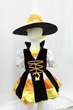 Candy Corn Witch Fairy Hat Boutique Deluxe Cosplay Girls Costume Halloween NEW