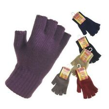 LADIES GLOVE GLOVES THERMAL MITTENS FINGERLESS WINTER MITT COLD WEATHER SNOW UK