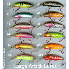 LARGE Attack Lures Handcrafted Australian Made by Dan McGrath New in Packet bass