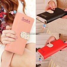 fashion lady women long purse clutch wallet high quality zip bag card holder OK