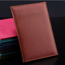 Passport Holder Organizer Card Case Protector Emboss Storage Cover Travel Wallet
