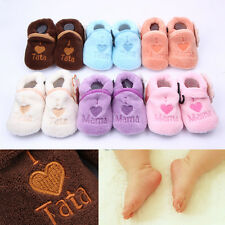 Infant Toddler Baby Boy Girl Soft Sole Crib Shoes Socks Antislip Newborn