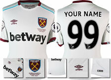 16/17 - UMBRO WEST HAM UTD AWAY SHIRT SS + PATCHES /  = YOUR NAME YOUR NUMB 99