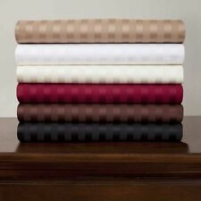 1000TC Egyptian cotton Complete  bedding items All US Sizes & New Stripe Colors