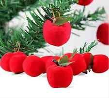 12X Christmas Tree Decorations Hanging Red Apples Foam Xmas Ornaments Party Gift
