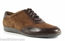 Cole Haan Gilmore Oxford Brown Chestnut Suede & Leather Shoes NEW D40606 Size 8