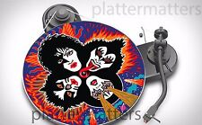 "Limited Edition Record Collector's  KISS  7"" or 12"" inch TURNTABLE platter MAT"