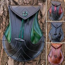 Quality Leather Elven Belt Bag. Perfect For Stage Costume LARP Or Re-enactment