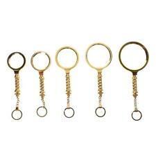 High Power Handheld Mini Gold Key Ring Magnifying Optical Glass Len Eye Loupe