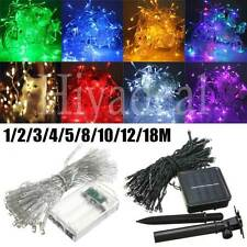 1-50M LED Battery/Solar Fairy String Light Outdoor Wedding Xmas Party Lamp IRTC