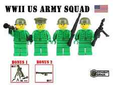 WWII US Army Squad Pack Custom Soldiers Lot made w/ real LEGO® Minifigures