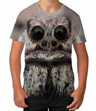 Big Hairy Spider Scary Animal Halloween Fun Boys Kids Child T Shirt Ages 3-12