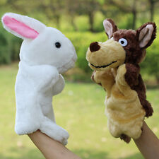 Family Finger Puppet Cloth Doll Baby Educational Cartoon Animal Hot Hand Toy