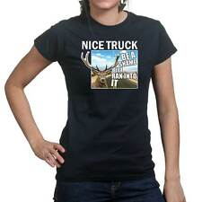 Nice Truck Hunting Hunter Survival Camping Ladies T shirt Tee Top T-shirt