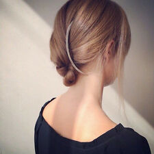 Curved Bar French Updo Hair Clip Alloy Hairpin Comb Barrette Women Gift