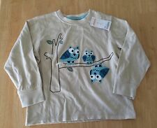 NWT Gymboree Boys Tee Shirt long Sleeve Owls SZ 18-24M,4T Toddler
