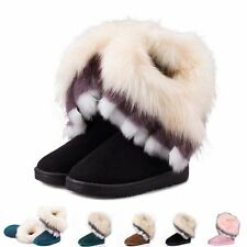 Fashion Womens Ladies Ankle Boots Snow Boots Fur Shoes Boots Thicken Winter Warm