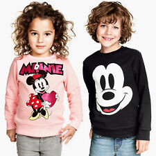 Children Minnie Mickey Hoodie Sweatshirt Kids Boys Girls Cartoon Long Sleeve Top
