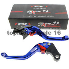 FXCNC CNC Blue 3D Brake Clutch Hollow Lever For YAMAHA XJ6 DIVERSION FZ-09/MT-09