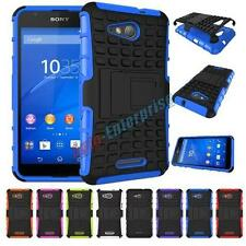 Sony E4G Heavy Duty Tough Shock Proof Hard Stand Case Cover For Sony Xperia E4g
