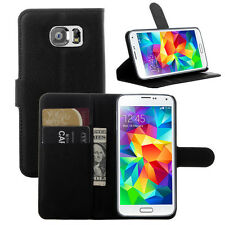 Samsung Galaxy S6 EDGE Stand Flip Leather Case ,Premium Leather Wallet Cover