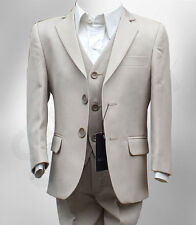 Boys Communion Suit in Beige Wedding Prom Pageboy Formal Kids Wear Outfit Suits
