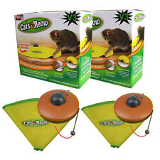 Set of 2 Cat's Meow interactive Toy V3 Undercover Mouse with BL 2600 Li Battery