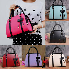 Women Handbag Lady Leather Messenger Shoulder Bag Totes Purse Bow Crossbody Bags