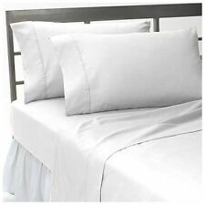WHITE 1000 TC 100%EGYPTIAN COTTON EXTRA DEEP POCKET COMPLETE BEDDING COLLECTION