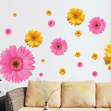 Removable Wall Sticker Vinyl 3D Daisy Mural Home Art  Living Room Decal Decor
