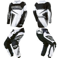 ONeal Element Black White Motocross Off-Road Dirtbike Gear Jersey Pants Combo
