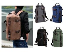 Men's Vintage Canvas Hiking Travel Military Messenger Tote Bag Backpack